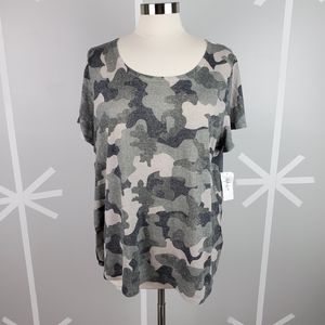 NWT Plus Size 0X Camo T-Shirt From Style & Co